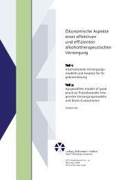 Ökonomische Aspekte einer effektiven - Repository of the LBI-HTA ...