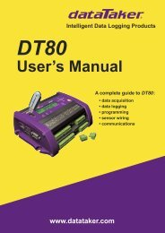 DT80 User's Manual