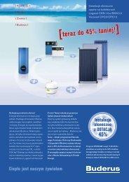 Instalacje słoneczne z dotacją 45% - Buderus