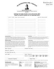 Bieterformulars - Auktionen Dr. Crott