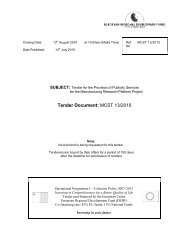 Tender Document: MCST 13/2010 - The Malta Council for Science ...