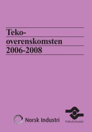 Teko-overenskomsten 2006-2008 - Fellesforbundet
