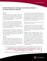 Global Manufacturer Harnesses the Power of Data to Generate ...