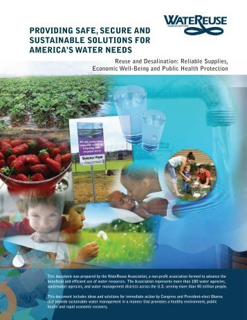 providing safe, secure and sustainable solutions for america's water ...