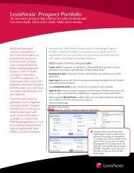 LexisNexis® Prospect Portfolio