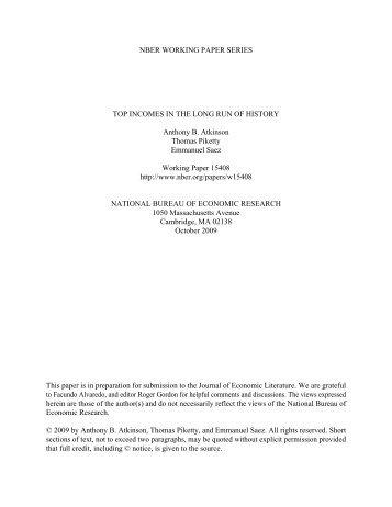 AtkinsonPikettySaez2009 HC.pdf - Thomas Piketty