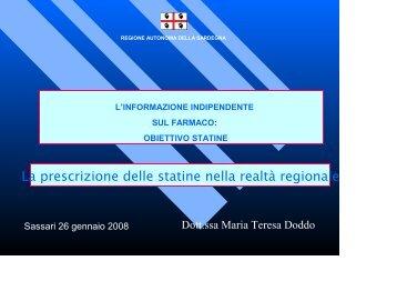 intervento della dottoressa maria teresa doddo - Sardegna Salute