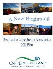 Destination Cape Breton 2011 Plan