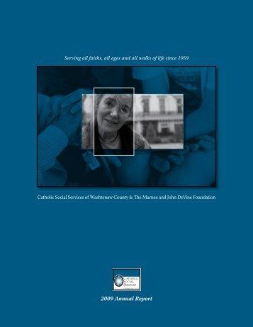 2009 Annual Report - Catholic Social Services Washtenaw County