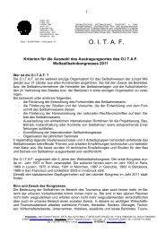 Anforderungen und Kriterien für die Auswahl des ... - OITAF