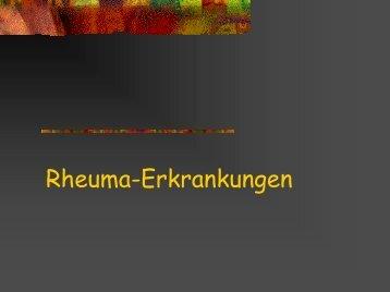 Rheuma-Erkrankungen