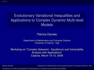Evolutionary Variational Inequalities and Applications to Complex ...