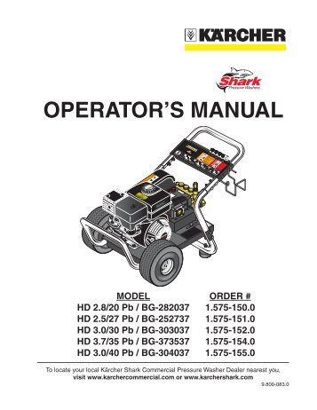 OPerATOr'S MANUAl - One Stop Rental