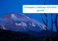 Kilimanjaro-Challenge 2011/2012 go4life