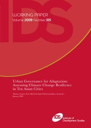 Urban Governance for Adaptation - PreventionWeb