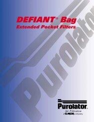 DEFIANT ® Bag - Purolator Air Filtration