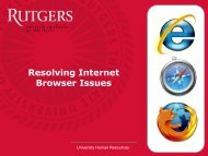 Resolving Internet Browser Issues - HCM
