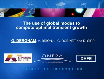 The use of global modes to compute optimal transient growth