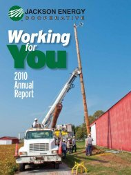2010 Annual Report for - Jackson Energy Cooperative
