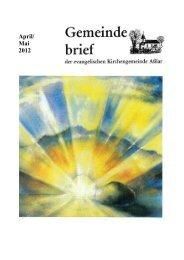Konfirmation 29. April 2012 - Evangelische Kirche Asslar