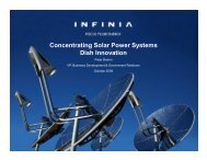 Concentrating Solar Power Systems Dish Innovation