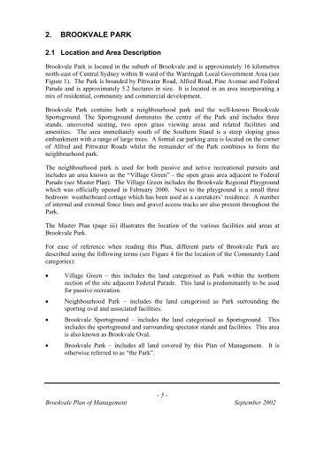 Brookvale Park - Warringah Council