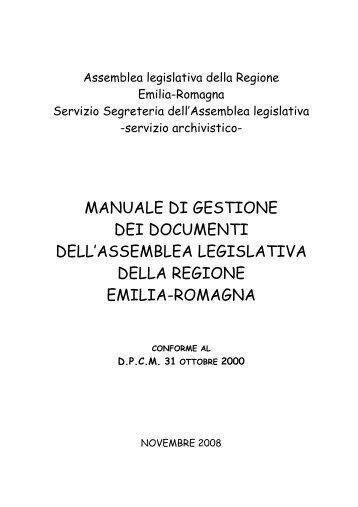 [pdf] manuale di gestione dei documenti dell - Assemblea Legislativa