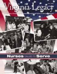 Nurses CALLED TO Serve - School of Nursing - University of Virginia