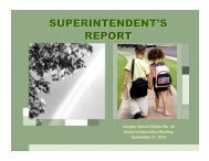 Superintendent's Report - School District #35