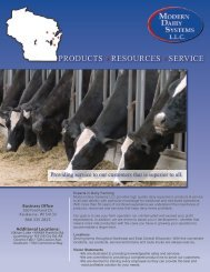 PRODUCTS • RESOURCES • SERVICE - Modern Dairy Systems, LLC