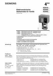 4554 Elektromotorische Stellantriebe für Ventile SQX32... SQX82 ...