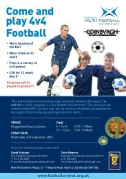 4 v 4 Centre - Scottish Football Association