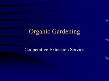 Organic Gardening - Bullitt County Cooperative Extension