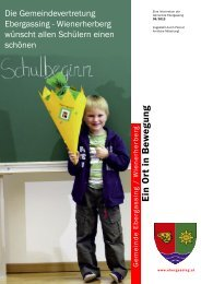 Newsletter September 2012 - Gemeinde Ebergassing