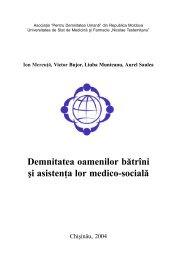 Demnitatea oamenilor bătrîni şi asistenţa lor medico ... - Ion Mereuta