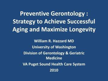 Preventative Gerontology 2010 - Chronic Care Clerkship - University ...