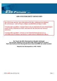 ABS-STEUERGERÄT ERNEUERN - BMW E39-Forum