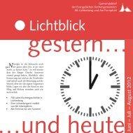 17. Juni 10.30 Uhr - Evangelische Kirchengemeinde Alt-Lichtenberg