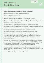 Respite Care Grant Application Form - Crosscare