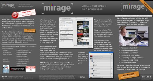 MIRAGE FOR EPSON No  1 print plug-in