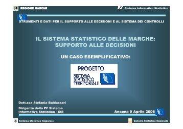 IL SISTEMA STATISTICO DELLE MARCHE: SUPPORTO ALLE DECISIONI - Forum PA