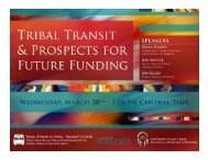 Tribal Transit & Prospects for Future Funding