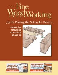 Jig for Planing the Sides of a Drawer - Fine Woodworking