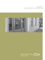 Jahresbericht 2012 (PDF) - Zentrum für Zeithistorische Forschung ...