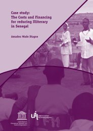 Case study: The Costs and Financing for reducing Illiteracy in Senegal