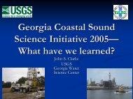 Georgia Coastal Sound Science Initiative 2005— What have we ...