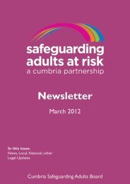 Latest newsletter (PDF, 451 Kb) - Cumbria County Council