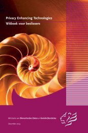 Privacy Enhancing Technologies. Witboek voor beslissers - College ...