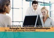 BueroWARE Zusatzlösungen - pa teamWORK
