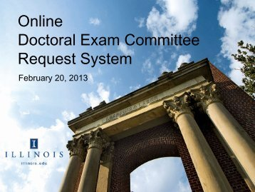 Online Doctoral Exam Committee Request System - The Graduate ...